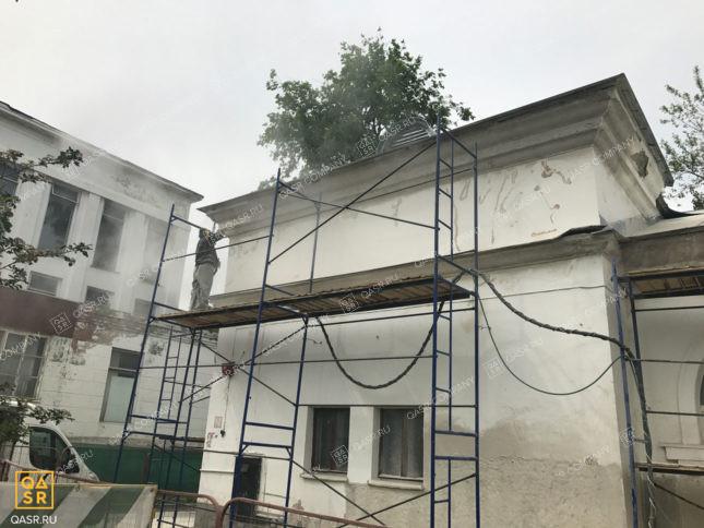 Очистка фасадов зданий мягким бластингом