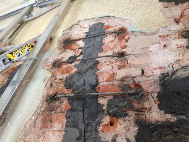 инъектирование смесью деформационных швов здания