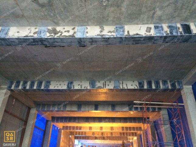 усиление монолитных плит здания