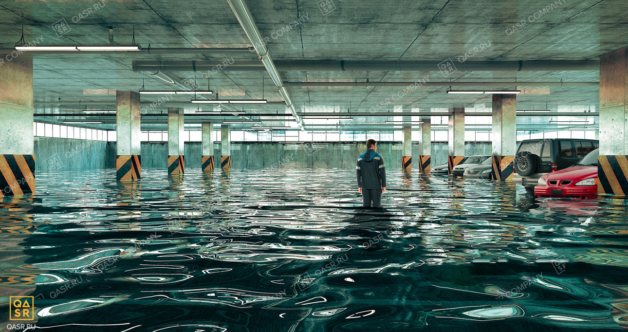 затопленная подземная стоянка нуждается в гидроизоляции